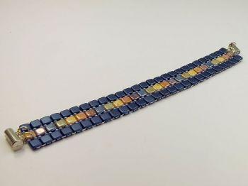 Armband dunkelblau und bunt
